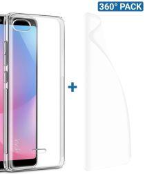 IMAK Xiaomi Redmi 6A Hoesje TPU met Screenprotector Transparant