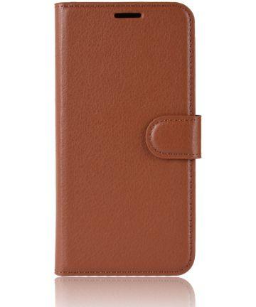 Xiaomi Redmi 6A Litchi Skin Leren Portemonnee Hoesje Bruin