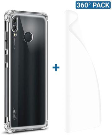 IMAK Honor 8X Hoesje Flexibel TPU met Screenprotector Transparant Hoesjes