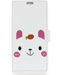 Nokia 7.1 Portemonnee Hoesje met Print Cute Bear