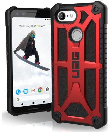 Urban Armor Gear Monarch Hoesje Google Pixel 3 Crimson