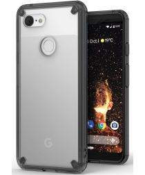 Ringke Fusion Google Pixel 3 Hoesje Doorzichtig Smoke Black