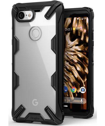 Ringke Fusion X Google Pixel 3 Hoesje Doorzichtig Zwart Hoesjes