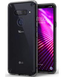 Ringke Fusion LG V40 ThinQ Hoesje Doorzichtig Smoke Black