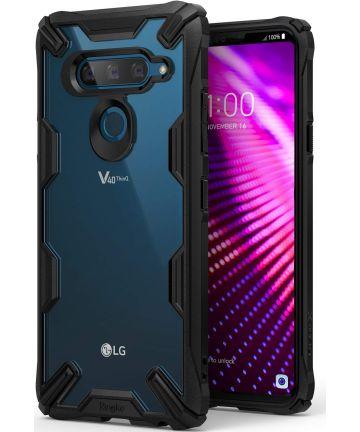 Ringke Fusion X LG V40 ThinQ Hoesje Doorzichtig Zwart Hoesjes