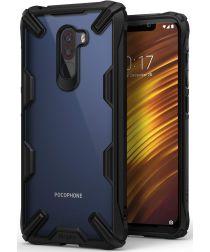Ringke Fusion X Xiaomi PocoPhone F1 Hoesje Doorzichtig Zwart