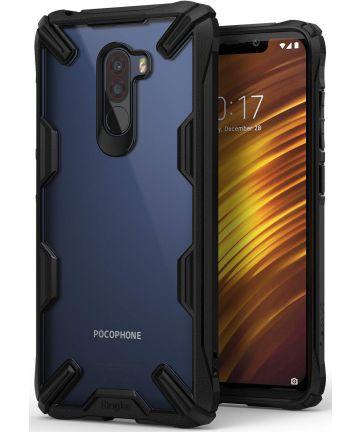 Ringke Fusion X Xiaomi PocoPhone F1 Hoesje Doorzichtig Zwart Hoesjes