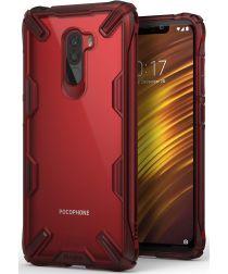 Ringke Fusion X Xiaomi PocoPhone F1 Hoesje Doorzichtig Rood