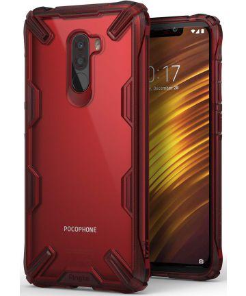Ringke Fusion X Xiaomi PocoPhone F1 Hoesje Doorzichtig Rood Hoesjes