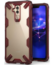 Ringke Fusion X Huawei Mate 20 Lite Hoesje Doorzichtig Rood
