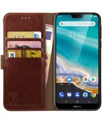 Rosso Element Nokia 7.1 Hoesje Book Cover Bruin
