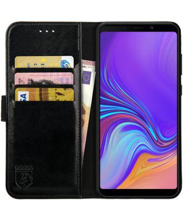 Rosso Element Samsung Galaxy A9 (2018) Hoesje Book Cover Zwart Hoesjes