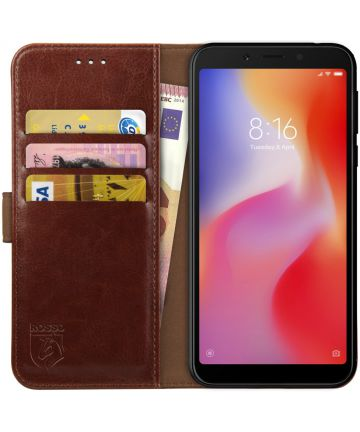 Rosso Element Xiaomi Redmi 6 Hoesje Book Cover Bruin