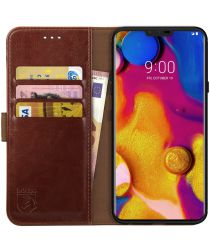 Rosso Element LG V40 ThinQ Hoesje Book Cover Bruin