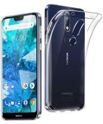 Nokia 7.1 Hoesje Dun TPU Transparant
