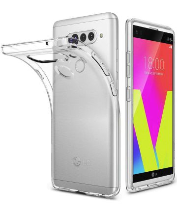 LG V40 ThinQ Hoesje Dun TPU Transparant