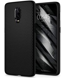 Spigen Liquid Air Back Cover Hoesje OnePlus 6T Zwart