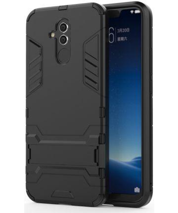 Huawei Mate 20 Lite Hybride Kickstand Hoesje Zwart