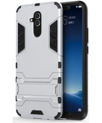 Huawei Mate 20 Lite Hybride Kickstand Hoesje Zilver