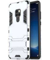 Huawei Mate 20 Hybride Kickstand Hoesje Zilver