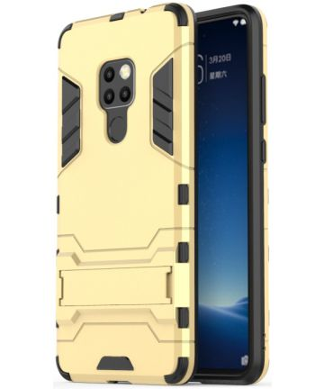 Huawei Mate 20 Hybride Kickstand Hoesje Goud