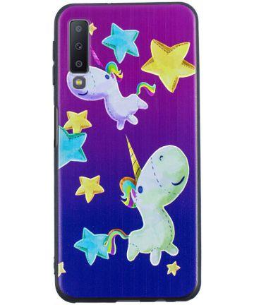 Samsung Galaxy A7 (2018) TPU Backcover Print Star and Unicorn
