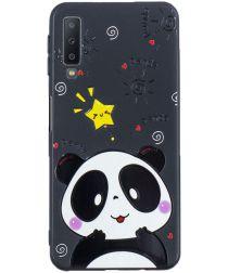 Samsung Galaxy A7 (2018) TPU Backcover Print Cute Panda