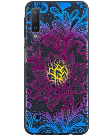 Samsung Galaxy A7 (2018) TPU Backcover Print Unique Flower Hoesjes