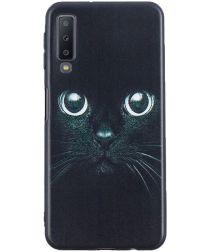 Samsung Galaxy A7 (2018) TPU Backcover Print Cat