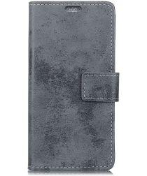 Huawei Mate 20 Vintage Portemonnee Hoesje Grijs