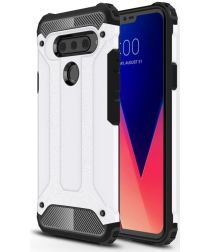 LG V40 Thinq Hybride Hoesje Wit