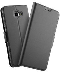 Samsung Galaxy J4 Plus Hoesje met Kaarthouder Zwart