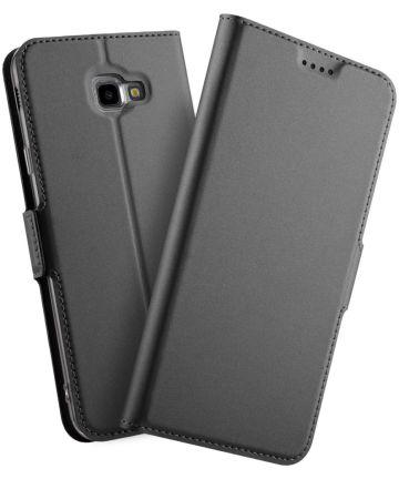 Samsung Galaxy J4 Plus Hoesje met Kaarthouder Zwart Hoesjes