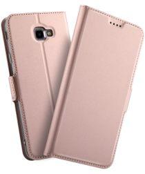 Samsung Galaxy J4 Plus Hoesje met Kaarthouder Roze