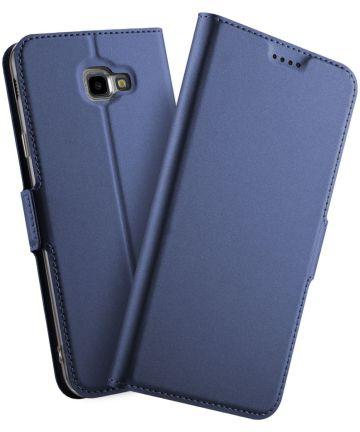 Samsung Galaxy J4 Plus Hoesje met Kaarthouder Blauw