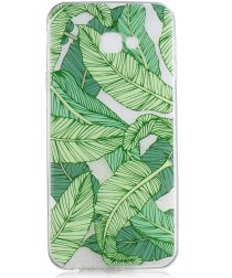Samsung Galaxy J4 Plus TPU Hoesje Print Green Leaves