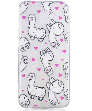Samsung Galaxy J6 Plus TPU Backcover Print met Alpaca
