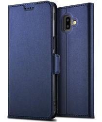 Samsung Galaxy J6 Plus Hoesje Kaarthouder Blauw