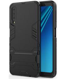 Samsung Galaxy A7 (2018) Hybride Hoesje met Standaard Zwart