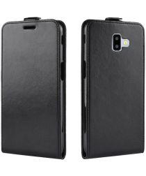 Samsung Galaxy J6 Plus Verticale Flipcase Zwart