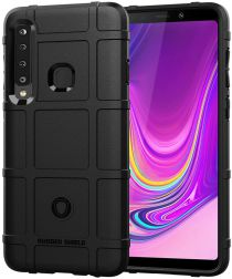 Samsung Galaxy A9 (2018) Hybride Rugged Armor Hoesje Zwart