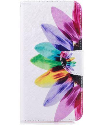 Samsung Galaxy J6 Plus Portemonnee Hoesje Colorful Petals