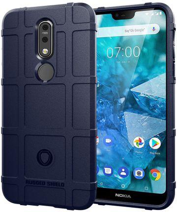 Nokia 7.1 Rugged TPU Hoesje Blauw