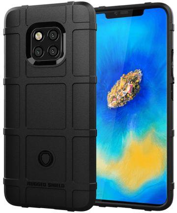 Huawei Mate 20 Pro Rugged TPU Hoesje Zwart Hoesjes