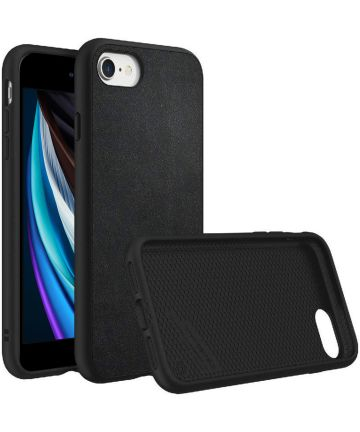 RhinoShield SolidSuit Black Leather iPhone SE 2020 Hoesje