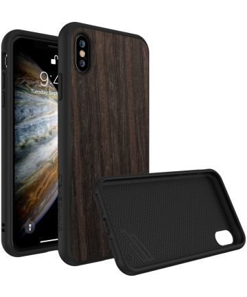 RhinoShield SolidSuit Black Oak iPhone XS Hoesje