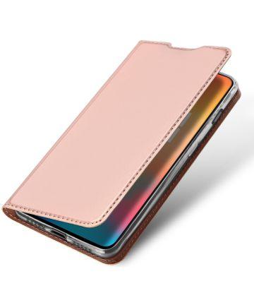 Dux Ducis Premium Book Case OnePlus 6T Hoesje met Kaarthouder Roze