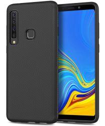 Samsung Galaxy A9 (2018) Twill Texture TPU Hoesje Zwart