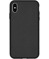 RhinoShield SolidSuit iPhone XS Max Hoesje Carbon Fiber