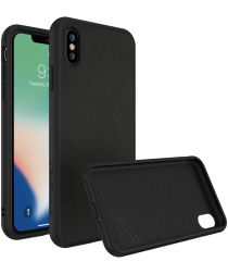 RhinoShield SolidSuit iPhone XS Max Hoesje Black Leather